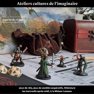 Cultures de l'Imaginaire : Jeux de rôle, jeux de société coopératifs, littérature