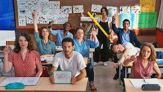 Projection en plein air de «Parents d'élèves»