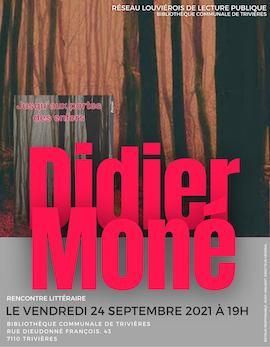 Rencontre littéraire : Didier Moné
